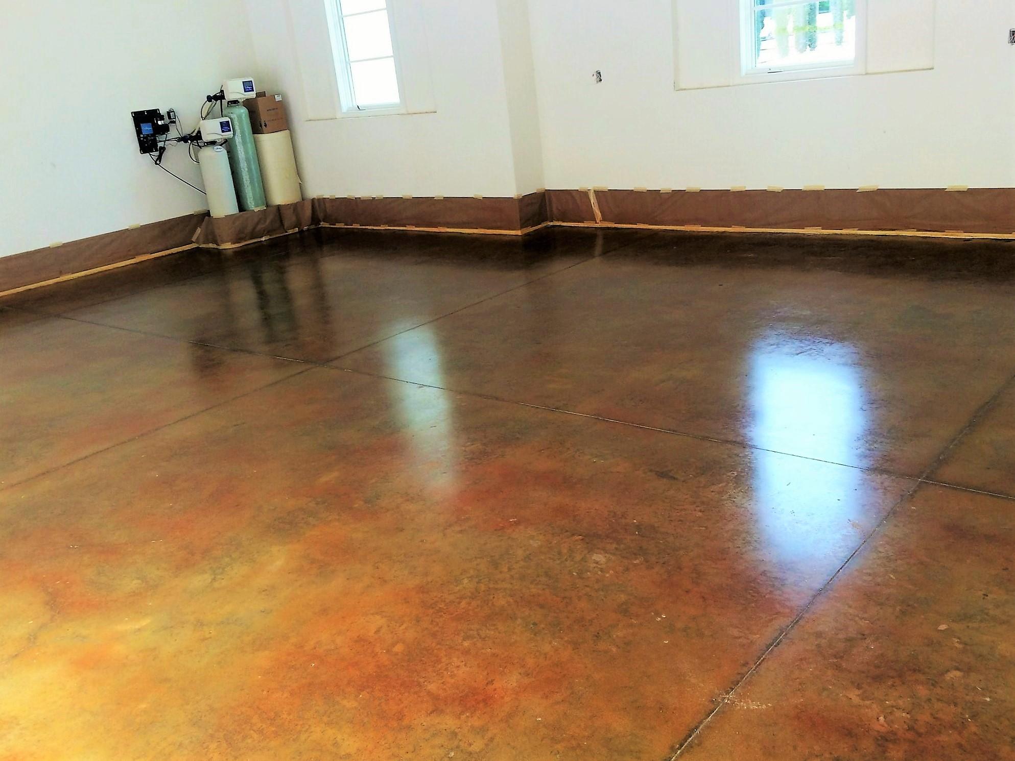 Polished concrete benefits stone medic polished concrete for How to polish stained concrete