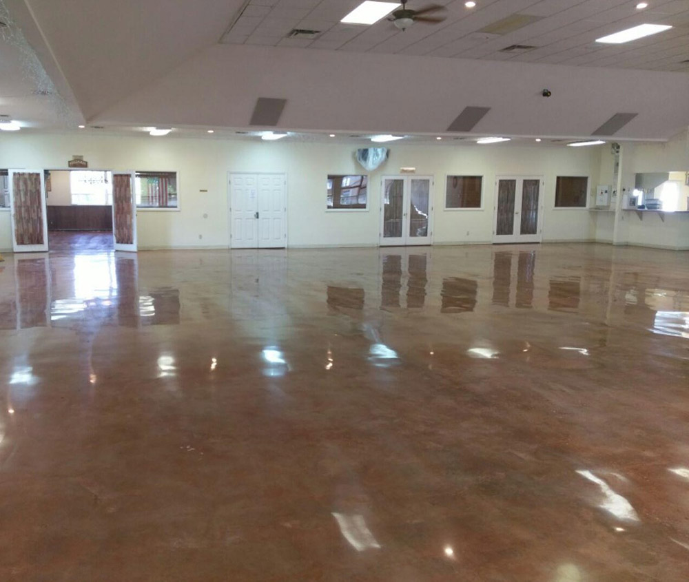 Polished Concrete In A Commercial Building